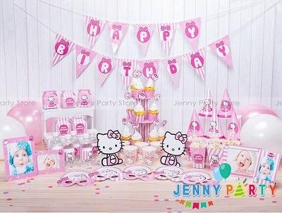 Cách trang trí sinh nhật chủ đề Hello Kitty
