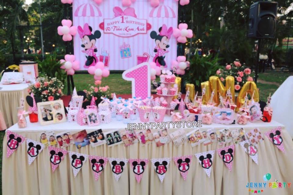 Cùng trang trí sinh nhật cho bé gái với cô chuột Minnie nhé!