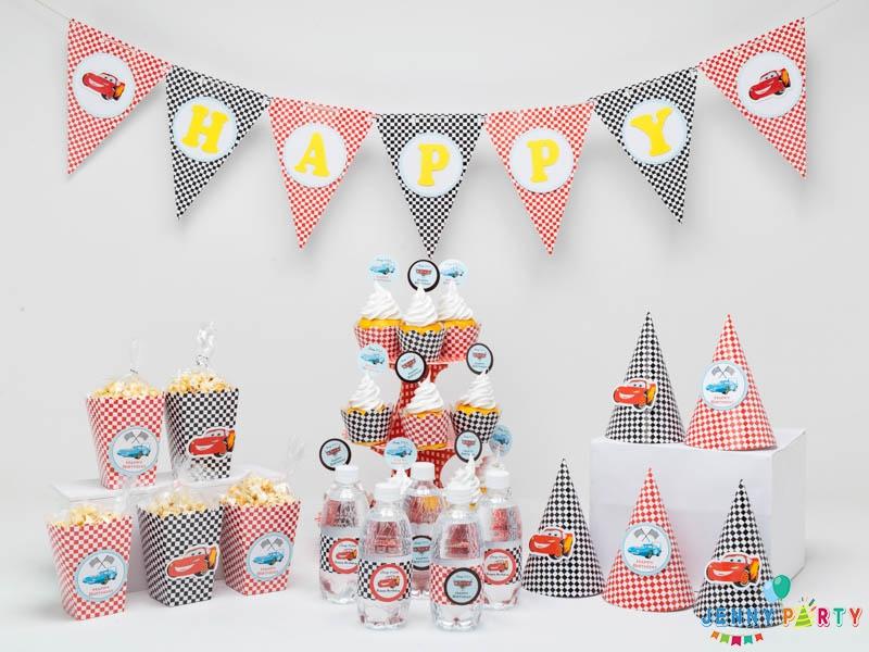 Hướng dẫn trang trí sinh nhật chủ đề xe hơi cho bé