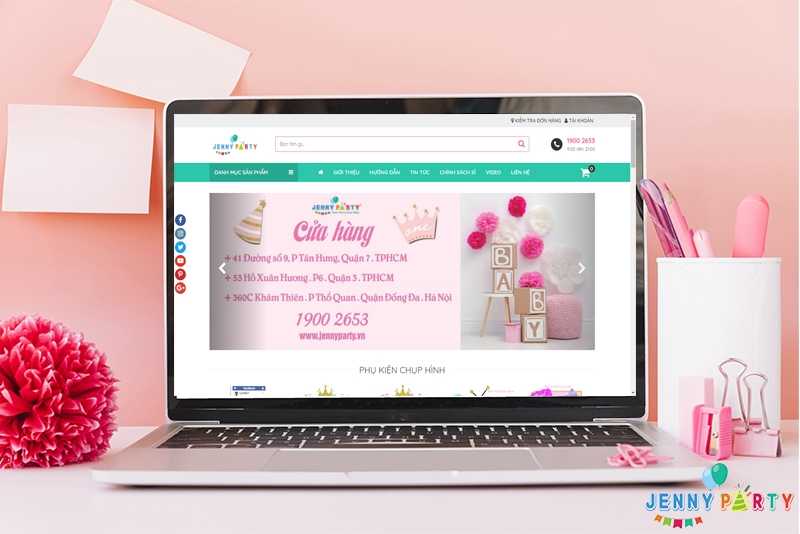 Hướng dẫn mua sắm trên Website Jenny Party