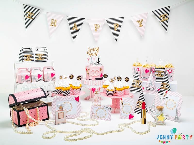 Những mẫu trang trí sinh nhật cho bé gái